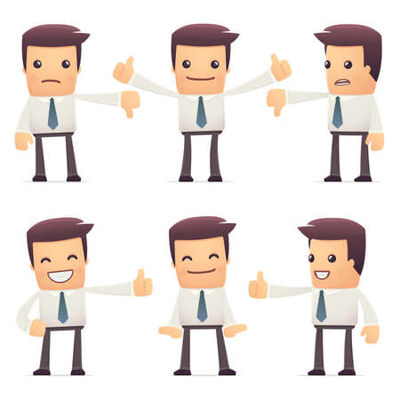 financial consultant: set of manager character in different interactive  poses