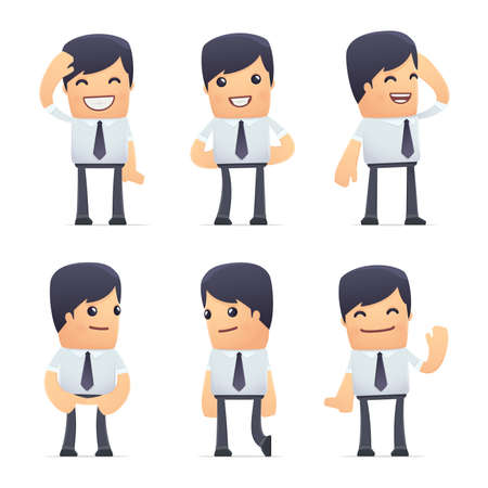 blankness: set of businessman character in different interactive  poses