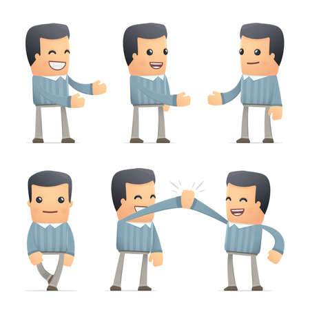 introduction: set of customer character in different interactive  poses Illustration