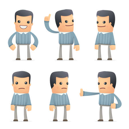 hypocrite: set of customer character in different interactive  poses Illustration