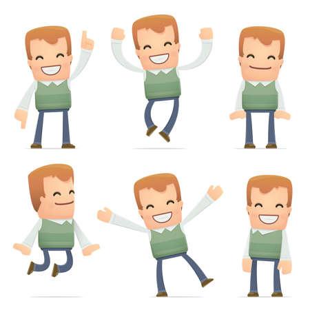 acquaintance: conjunto de caracteres vecino en diferentes poses interactivos Vectores