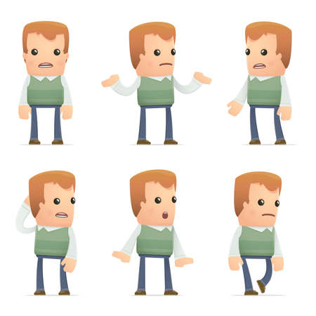 suspicion: set of neighbor character in different interactive  poses
