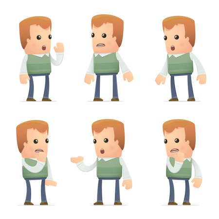 tattle: set of neighbor character in different interactive  poses