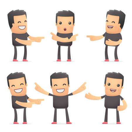 ruffian: set of bad guy character in different interactive  poses