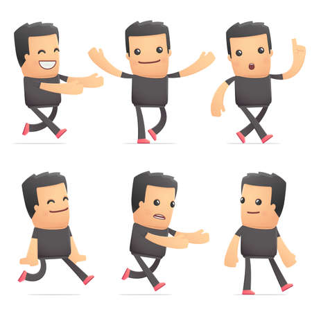 flurry: set of bad guy character in different interactive  poses