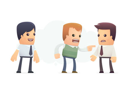 accuses: client accuses manager. conceptual illustration