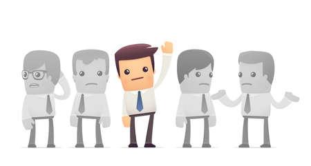 elected employee. conceptual illustration Vector