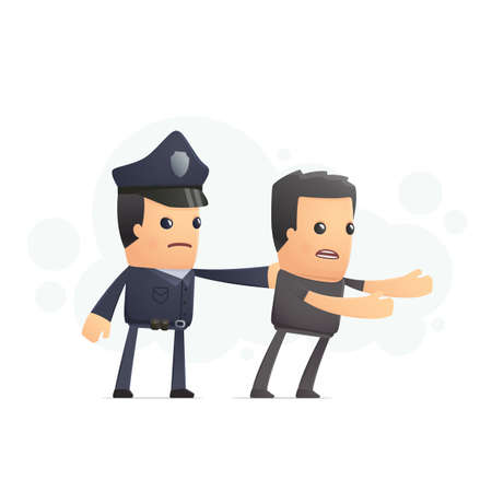 police catch a cheater. conceptual illustration Vector