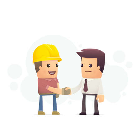 construction contract. conceptual illustration Vector