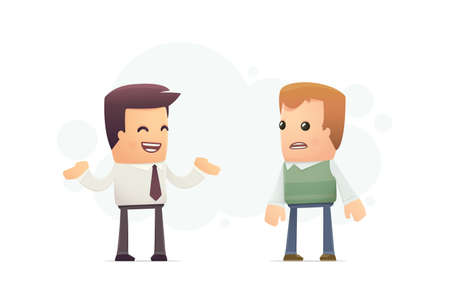 troubleshooting: organization can not help the client problems. conceptual illustration Illustration