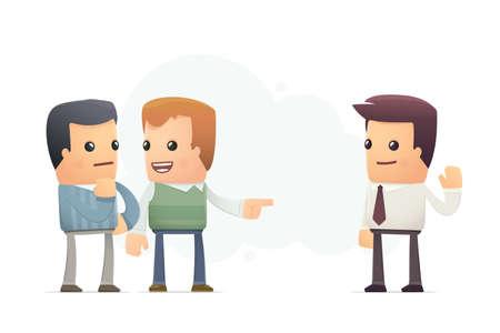 vocational: friend advised good firm. conceptual illustration