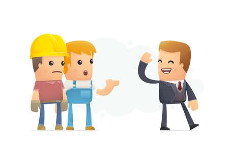 worried executive: unemployment. conceptual illustration