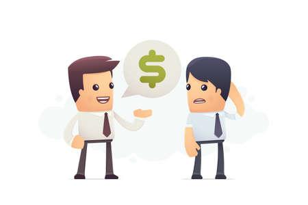 inability to pay debt. conceptual illustration Ilustração