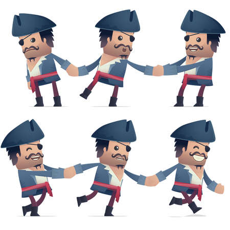 compel: set of pirate character in different interactive  poses