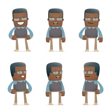male teacher: set of teacher character in different interactive  poses