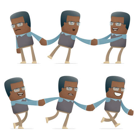 intrusive: set of teacher character in different interactive  poses