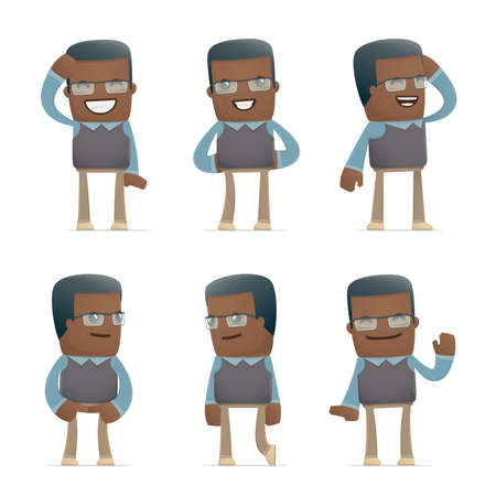 discomfiture: set of teacher character in different interactive  poses