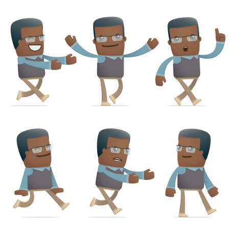 flurry: set of teacher character in different interactive  poses
