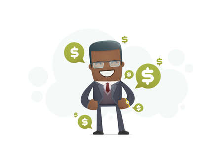 financial advisors: expensive clothes and accessories at a successful person. conceptual illustration