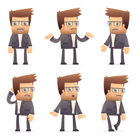 set of director character in different interactive  poses Stock Vector - 30290866
