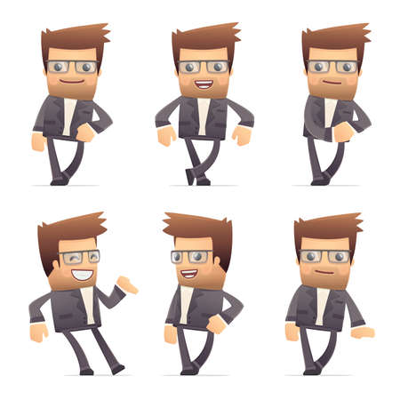 set of director character in different interactive  poses Stock Vector - 30290894