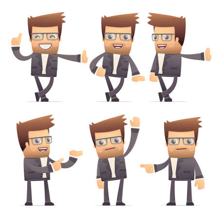 set of director character in different interactive  poses Stock Vector - 30290903