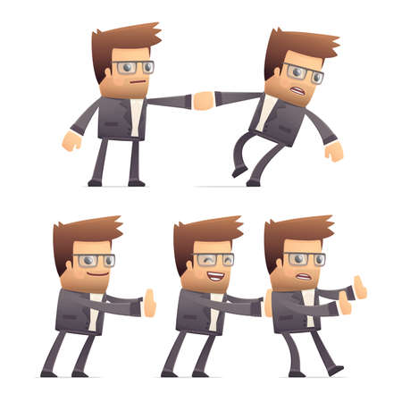 set of director character in different interactive  poses Stock Vector - 30290901