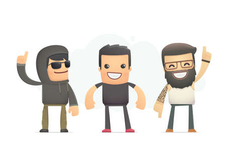 real bad boys. conceptual illustration Vector