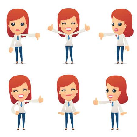 percepción: conjunto de caracteres recepción en diferentes poses interactivos Vectores