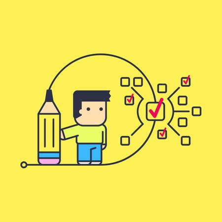 small tasks to perform large tasks. Conceptual illustration.