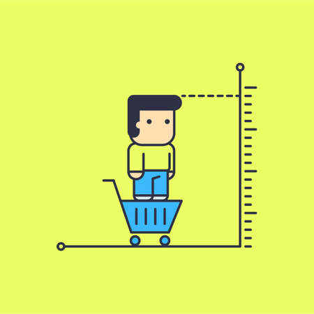 great buying opportunities. Conceptual illustration. line art style Illustration