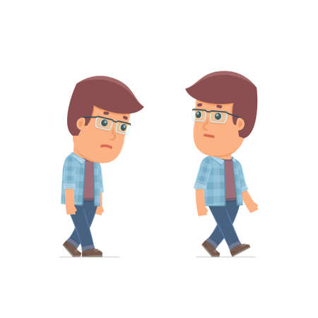 unlucky: Sad and Frustrated Character Freelancer goes and drags. for use in presentations, etc.