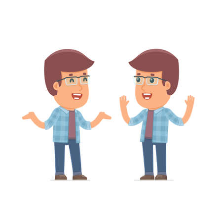 freelancer: Funny Character Freelancer tells interesting story to his friend. Poses for interaction with other characters from this series