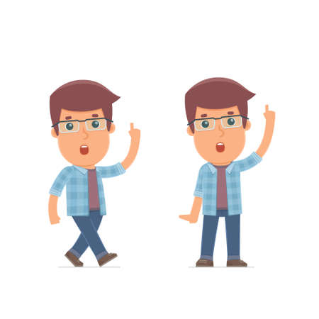 freelancer: Intelligent and Clever Character Freelancer visited great idea. for use in presentations, etc. Illustration