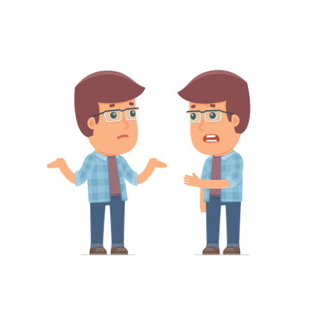 economic depression: Frustrated Character Freelancer can not help to solve the problem. Poses for interaction with other characters from this series