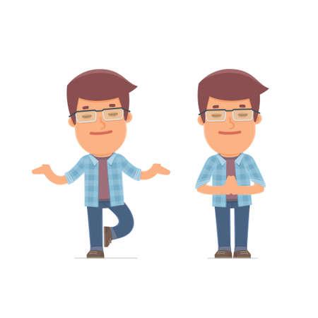 Calm and Blanced Character Freelancer does yoga and meditates. for use in presentations, etc.