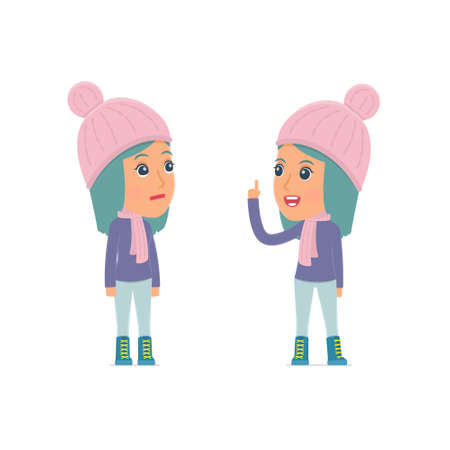 advisor: Intelligent Character Winter Girl learns and gives advice to his friend. Poses for interaction with other characters from this series Illustration