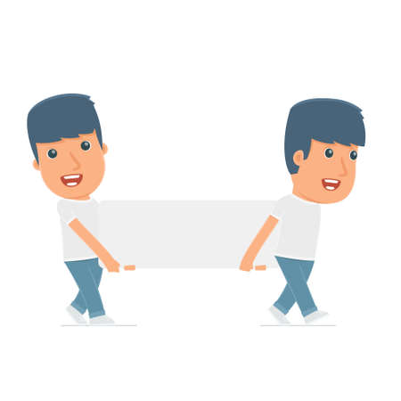 activist: Funny Character Activist holds and interacts with blank forms or objects. Poses for interaction with other characters from this series Illustration