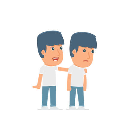 good character: Good Character Activist cares and helps to his friend in difficult times. Poses for interaction with other characters from this series