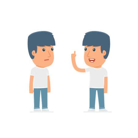 Intelligent Character Aktivist lernt und berät seinen Freund. Poses für die Interaktion mit anderen Charakteren aus dieser Serie