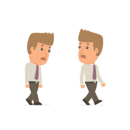 lagging: Sad and Frustrated Character Broker goes and drags. for use in presentations, etc.