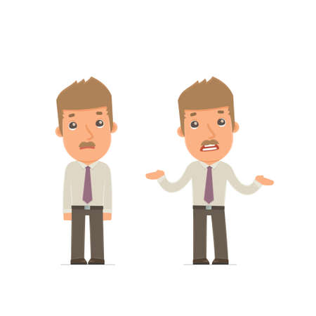 embarrassment: Ð¡onfused  Character Broker embarrassment and does not know what to do. for use in presentations, etc.
