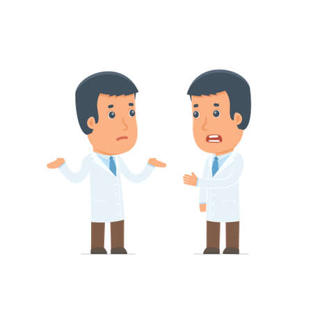 economic depression: Frustrated Character Doctor can not help to solve the problem. Poses for interaction with other characters from this series