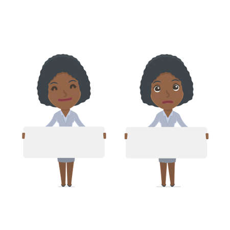 social worker: Funny Character Social Worker holds and interacts with blank forms or objects. for use in presentations, etc. Illustration