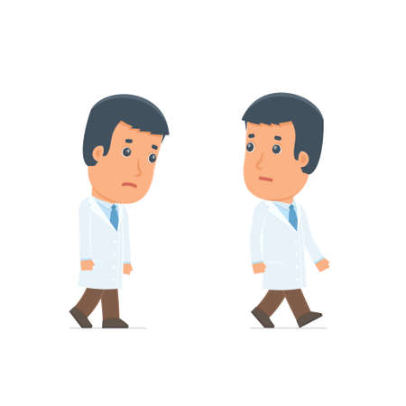 sad: Sad and Frustrated Character Doctor goes and drags. for use in presentations, etc.
