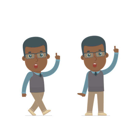 african teacher: Intelligent and Clever Character African American Teacher visited great idea. for use in presentations, etc.