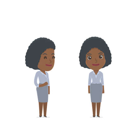 social worker: Happy Character Social Worker standing in relaxed pose. for use in presentations, etc. Illustration