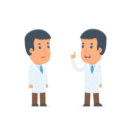therapist: Intelligent Character Doctor learns and gives advice to his friend. Poses for interaction with other characters from this series Illustration