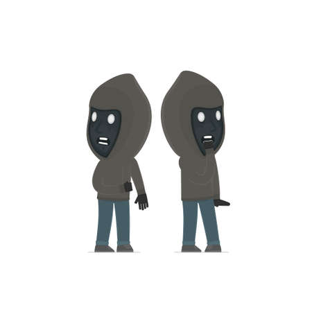 heard: Cowardly Character Anonymous Hackers heard something and very scared. for use in presentations, etc.