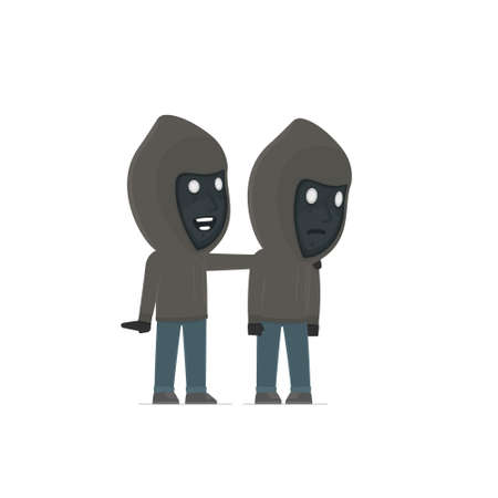 good character: Good Character Anonymous Hackers cares and helps to his friend in difficult times. Poses for interaction with other characters from this series